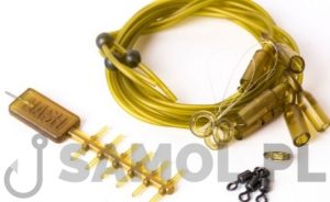 Zestaw karpiowy Anti-tangle Run Rig Diffusion Camou