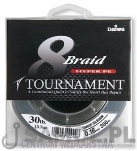 PLECIONKA DAIWA TOURNAMENT 8 BRAID CIEMNOZIELONA 300M