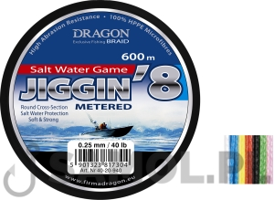 PLECIONKA DRAGON SALT WATERGAME JIGGIN 8 600M